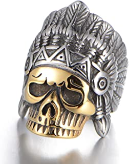 Best gold indian skull ring Reviews