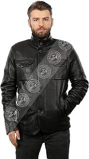 Erkek Gerçek Deri Klasik Kışlık Kaban Kaz Tüyü Siyah O-1191-19063 FA1