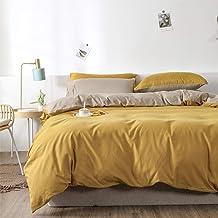 سيمبل كوين مفروشات مجموعة لحاف مزدوجة اللون 3 قطع (غطاء لحاف + غطاء وسادة) مجموعة سرير مزدوجة من الألياف الدقيقة الناعمة