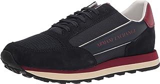 Armani exchange sneakers, scarpe da ginnastica uomo suede bicolor XUX083XV263A001
