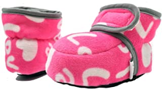CONDA Baby Booties Girl & Boy Infant Fleece Slippers - Soft Cozy and Colorful Baby Shoes 0-18 Months (12 Colors)