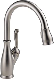 Delta Faucet Leland Single-Handle Kitchen Sink Faucet with Pull Down Sprayer, ShieldSpray Technology and Magnetic Docking Spray Head, SpotShield Stainless 9178-SP-DST (Renewed)