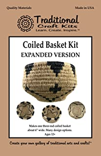 Traditional Craft Kits Coiled Basket Kit (Expanded Version) — DIY Crafts for Adults Teen Girls Beginners
