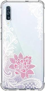 Suhctup Funda Compatible con Samsung Galaxy J8 2018 Carcasa Transparente,Dibujo Diseño Flor [Protección Caídas] Ultra-Delgado Flexible Silicona TPU Estuche Cover para Galaxy J8 2018,Mandala 5