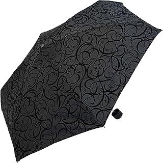 """Pierre Cardin Damen Mini Regenschirm Taschenschirm """"Black Illumination"""" mit Samt Arabesken"""