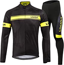 Lixada Men's Cycling Jersey Suit Winter Thermal Fleece Long Sleeve Mountain Bike Road Bicycle Shirt Padded Pants