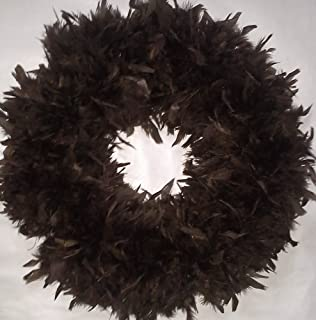 Fluffy Brown XL Chandelle Feather Wreath…Gorgeous Autumn Colored Accent Wreath!