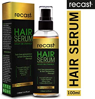 Recast Hair Serum - Hair loss prevention and Hair thickening therapy, infused with patented Procapil, Follicusan, Copper peptides and proven herbal extracts - 100ml