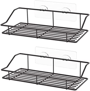 SMARTAKE 2-Pack Shower Caddy, Adhesive Bathroom Shelf Wall Mounted, No Drilling Strong Shower Caddies Kitchen Racks - Stai...