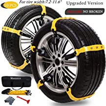 Snow Chains for SUV Car Anti Slip Adjustable Universal Emergency Thickening Anti Skid Tire Chain,Winter Driving Security Chains,Traction Mud Chains for Tire Width 7.2-11.6
