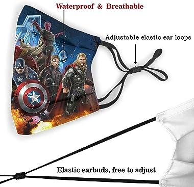 Yoovo Super Hero Face Masks,Lightweight Ultra-Breathable Washable Reusable Windproof Masks,Adjustable Balaclava Balaclava Fac