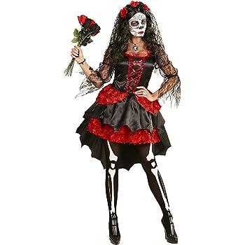 NUOVO DONNA Halloween Giorno dei Morti Doll Costume