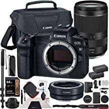 $2499 » Canon EOS R Mirrorless Camera RF 24-240mm f/4-6.3 is USM Lens Bundle with Lens Mount Adapter, 64GB Memory Card, Shoulder Bag, Battery and Charger Kit, Monopod and Cleaning Kit
