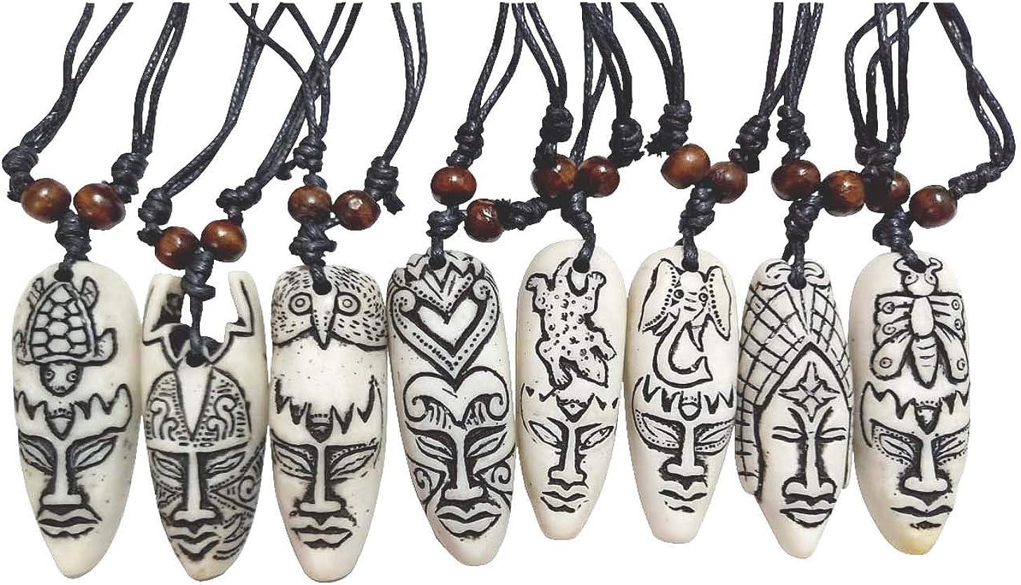 ASKANA Fashion Cute Medallion Symbol Mascot Amulet Pendant Necklace Sets with Adjustable Cotton Cord