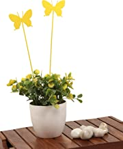 ELAN Butterfly Sticks, Home and Garden Decoration (Yellow, Set of 2)