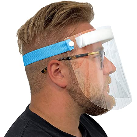 5 Pcs de Cara Completa de Pl/ástico Reutilizable protectoras Visera de protecci/ón de seguridad Anti escupir para hombres y mujeres