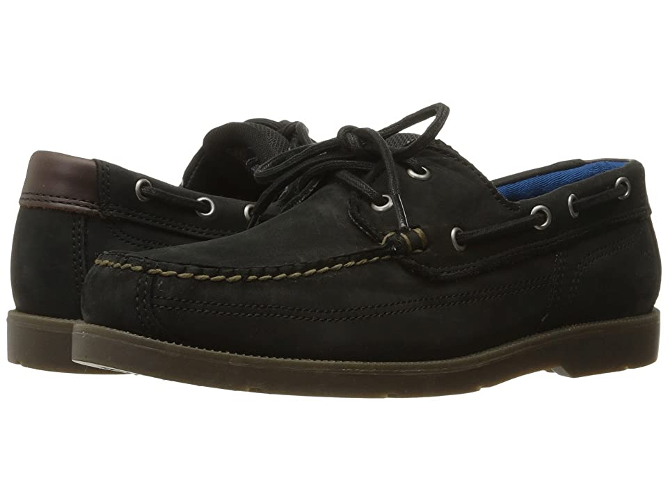 Timberland Piper Cove Leather Boat Shoe (Black Nubuck) Men