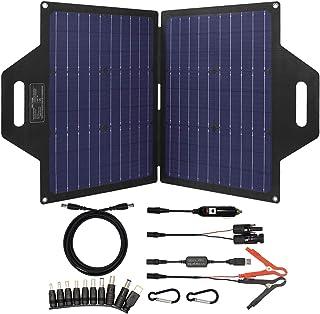 TP-solar 60 Watt Foldable Solar Panel Battery Charger Kit for Portable Generator Power Station Cell Phones Laptop 12V Car ...