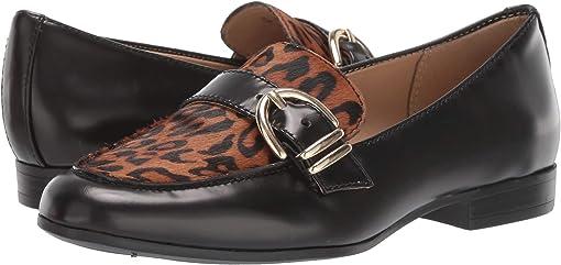 Black Cheetah Brush-Off Leather