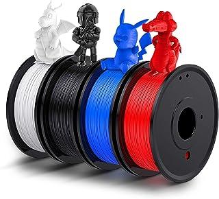 LABISTS 3Dプリンターフィラメント1.75mmフィラメント 4色(ブラック、ブルー、赤い、白い)