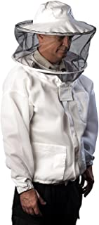 Pro-Breeze Ventilated Beekeeping Jacket For Men/Women By Forest Beekeeping Supply   Round Vented Apiary Jacket W/Veil Hood For Beginner/Commercial Beekeepers   Brass Zippers and Thumb Straps (X-LARGE)