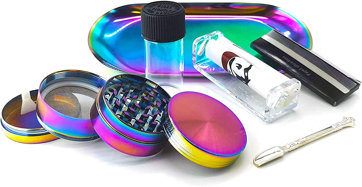 Herb Grinder Kit with Rolling Tray Animer and price revision Machine Metal quality assurance