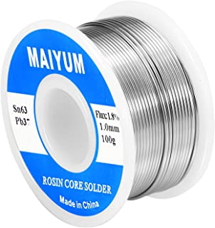 MAIYUM 63-37 Tin Lead Rosin core solder wire for electrical soldering (1.0mm 100g)