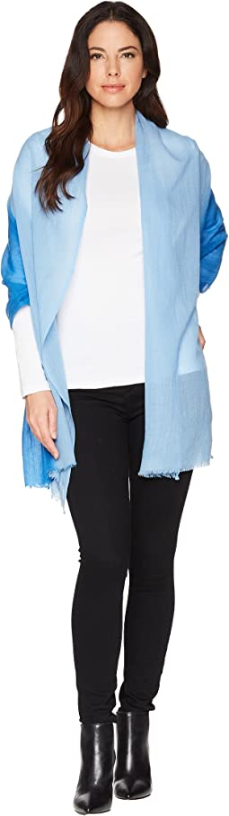 Travel Weight Cashmere Dip-Dye Scarf