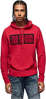 True Religion Men's Mirror Logo Reflection Pullover Hoodie