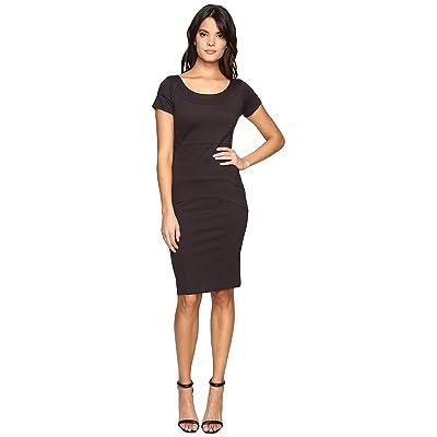 Nicole Miller Karina Ponte Dress (Dark Charcoal) Women
