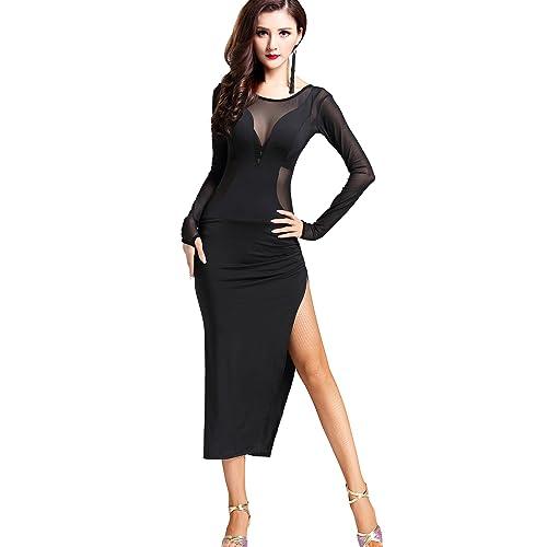 6d48d5e8f6 ZLTdream Cha Cha Latin Tango Ballroom Salsa Rumba Dance Dress Costumes Black