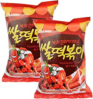 ROM AMERICA [ 2 Packs ] HOT Korean Rice Tteokbokki Snacks Chips 160g x 2