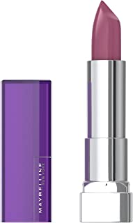 Maybelline Color Sensational Lipstick, Lip Makeup, Cream Finish, Hydrating Lipstick, Nude, Pink, Red, Plum Lip Color, On The Mauve, 0.15 oz. (Packaging May Vary)