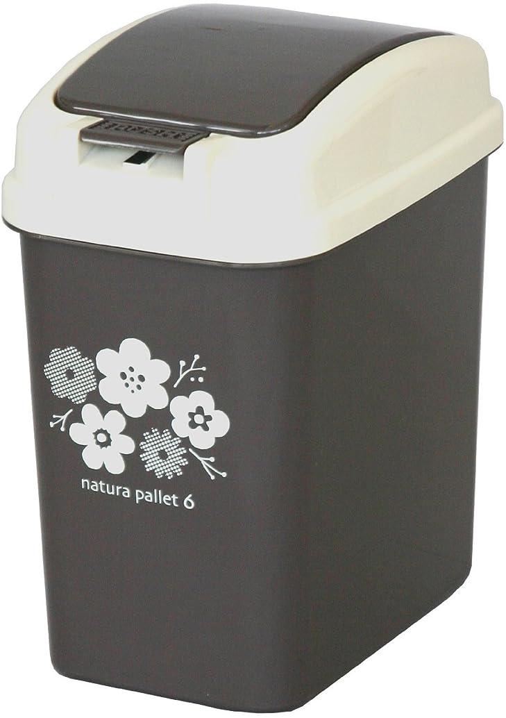 依存先例どこにも平和工業 ゴミ箱 プッシュペール 6L チョコレートブラウン