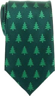 Retreez Christmas Tree Pattern Woven Microfiber Men's Tie - Various Colors
