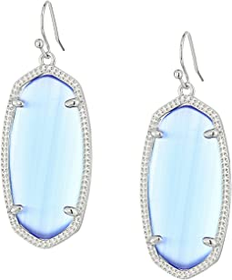 Rhodium/Periwinkle Cats Eye