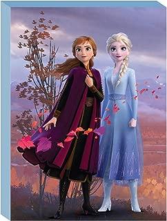 Disney Frozen 2 LED Canvas Wall Art Featuring Anna & Elsa, 15.75