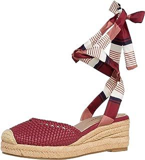 Tamaris 1-1-28228-22 Femme Sandales compensées,Sandales,Sandales compensées,Chaussures d'été,Confortable,Plat,Touch-IT