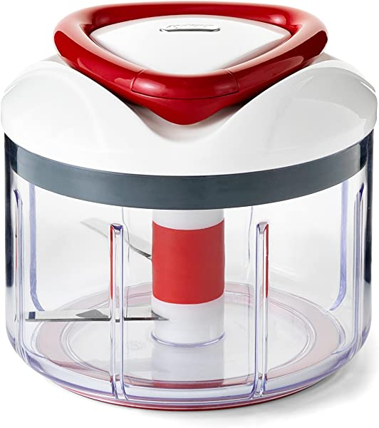 ZYLISS Easy Pull Food Chopper And Manual Food Processor Vegetable Slicer And Dicer Hand Held