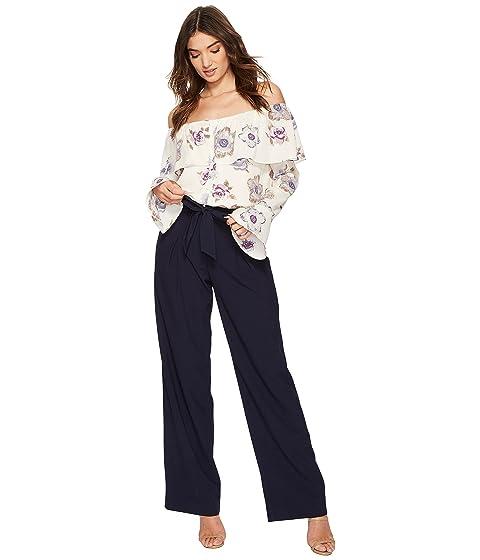 cintura lazo azul J Pantalones marino con pierna O de ancha A RR0wzq8
