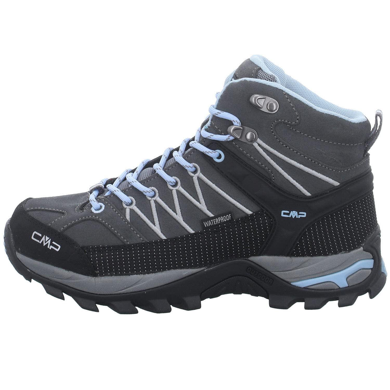CMP Damen Rigel 3Q12946, Trekking- & Wanderhalbschuhe, Schwarz (Graffite-Azzurro