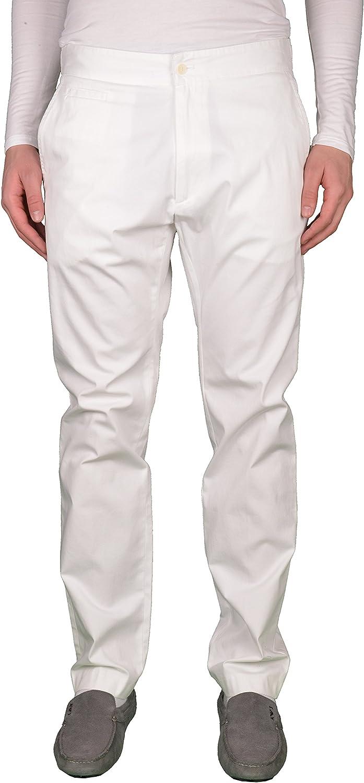Just Cavalli White Straight Legs Men's Casual Pants US 34 IT 50