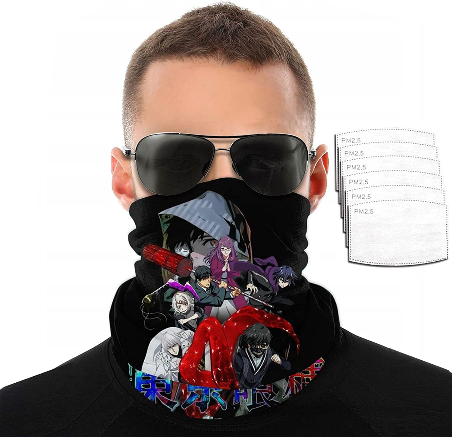 Anime Tokyo Ghoul Variety Face Max 45% OFF Towel Scarf Printing Sun Funny Spring new work 3D