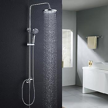 BONADE Sistema de ducha con Barra Adjustable (75~125 cm) Columna ...