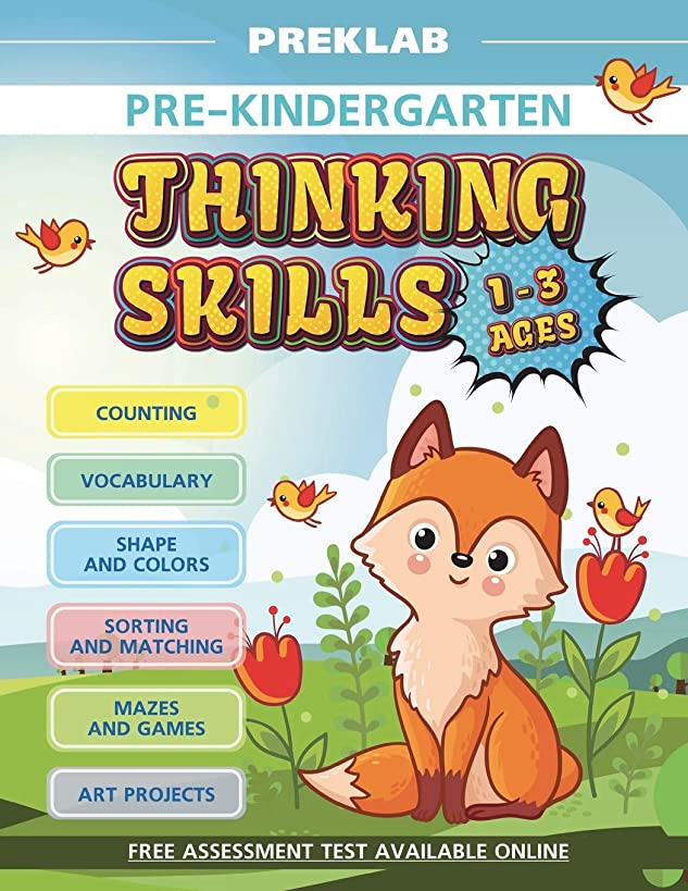Thinking skills pre-K toddler workbook 1-3 years prek age 1 2 3