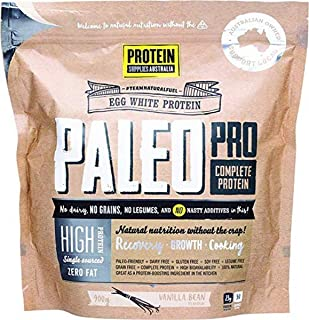 Protein Supplies Australia PaleoPro Egg White Protein Powder, Vanilla Bean 900 g,, Vanilla Bean 900 grams