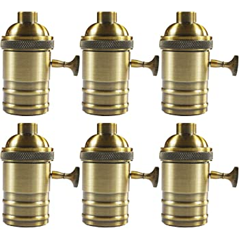 Aluminum E26//E27 Lamp Accessories Socket Holder Vintage Antique Bulb Accessories
