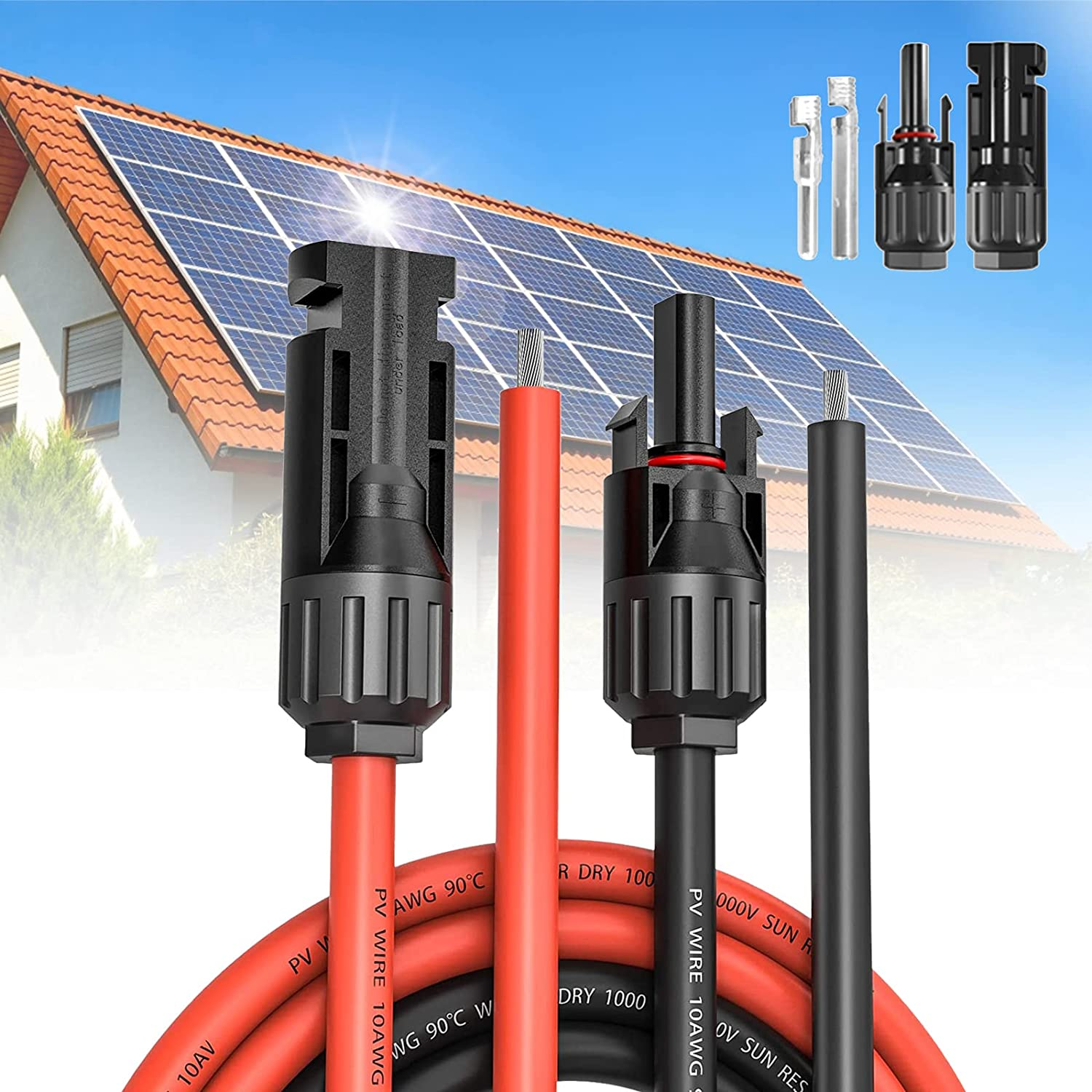 jamgoer New color 9Meters 12AWG Solar Extension Max 72% OFF Cable and Female with Male
