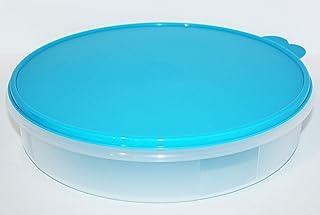 علبة حفظ طعام دائرية 12 بوصة من تابروير لتخزين الفطائر والبطاقات مع إغلاق محكم الإغلاق باللون الأزرق السماوي الفاتح