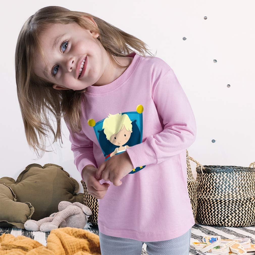 Cute Rascals Kids Long Sleeve T Shirt Boy Bed Blonde Cotton Boy & Girl Clothes